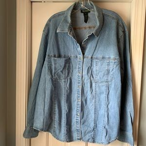 Lauren Jeans Denim Top EUC